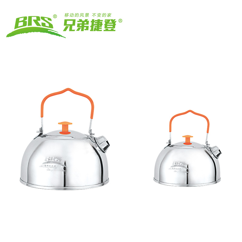 Brs-ts06 Camping titanium cookware titanium pot travel tableware utensils for tourism kettle picnic outdoor camping cutlery set(China (Mainland))