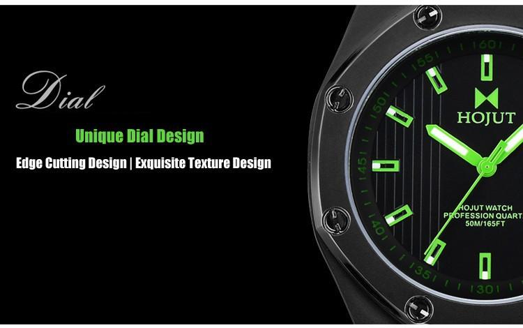 HOJUT A55 мужские аналоговые с календарем бизнес досуг наручные часы