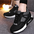 Winter Outdoor Shoes High tops Shake Shoes Woman Casual Platform Wedges High Tops Height Increasing Lace