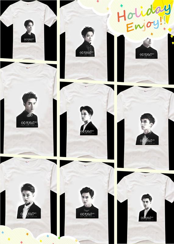 Мужская футболка KPOP exo baekhyun xiumin chanyeol t camiseta мужская футболка kpop exo baekhyun chanyeol t camiseta