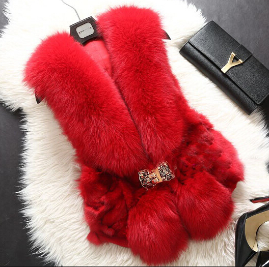 2015 New hot sale coat real fox fur vest winter women coats of fur vests high quality lady girls natural fox fur waistcoatОдежда и ак�е��уары<br><br><br>Aliexpress