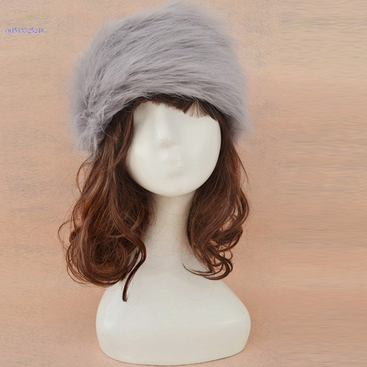 New Fashion Ladies Women's Faux Fur Headband Cossak Russian Style Hat Winter Earwarmer Earmuff Hat Ski 10(China (Mainland))