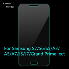 Buy 2PCS Tempered Glass Screen Protector Film Samsung Galaxy S7 S6 S5 S4 mini A3 A7 A8 J1 J5 J7 Note 5 4 3 Grand Prime G360> for $1.89 in AliExpress store