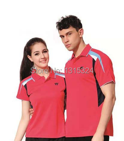 The badminton men's female game breathable quick-drying table tennis clothes(China (Mainland))
