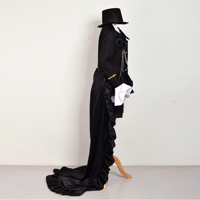 Anime Ciel Phantomhive Cosplay Black Suit Outfits New Black Butler Outfit Costume