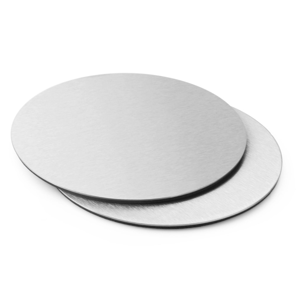 6pcs Stainless steel round coasters Cup mat Table Decoration & Accessories Kitchware Free shipping(China (Mainland))