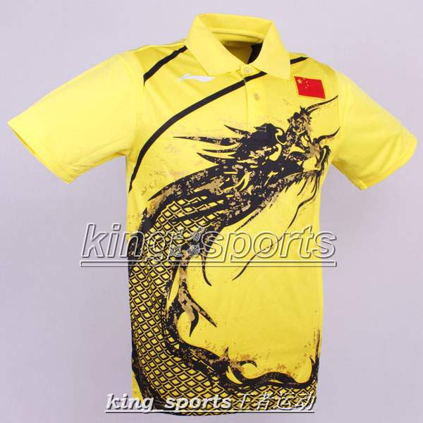 Free shipping Li Ning Man London 2012 Olympic Games T-Shirt Chinese national flag Table Tennis,Ping Pong wholesale!(China (Mainland))