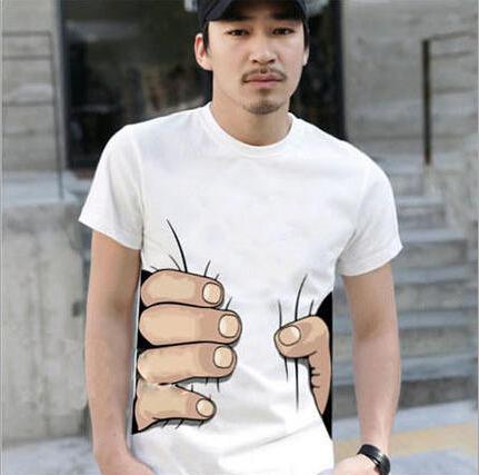 """I CATCH YOU"" 2015 NEW MEN'S WOMEN'S T-SHIRT Cotton Funny Big Hand Grab Printed Short Sleeve T Shirts TOP TEEs(China (Mainland))"