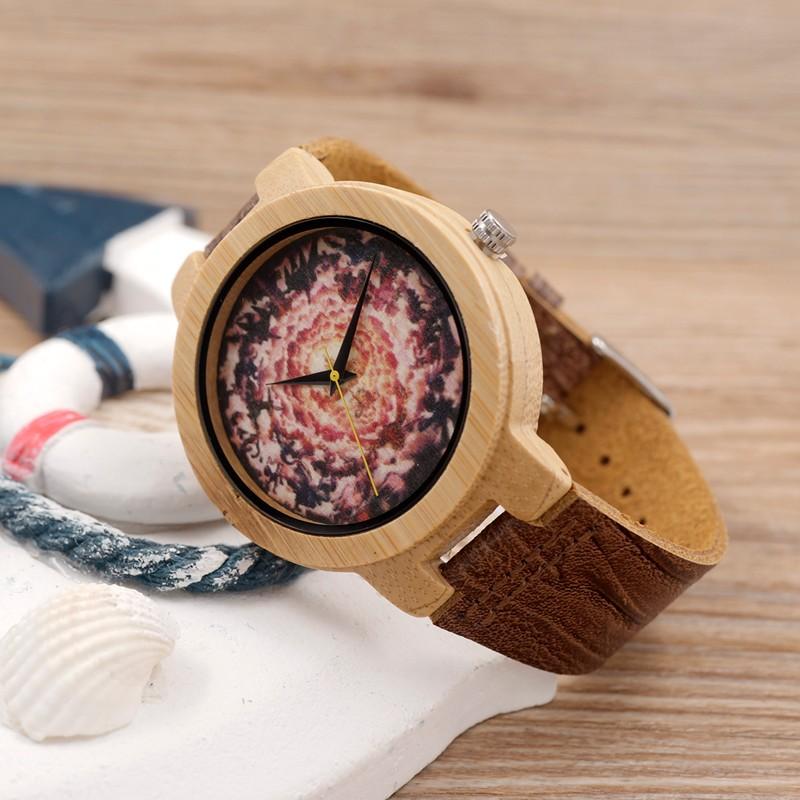 БОБО ПТИЦА мужская Дизайн Бренда Роскошный Деревянный Бамбука Часы Натуральной Кожи Кварцевые Часы в Подарочной Коробке И Японский движение
