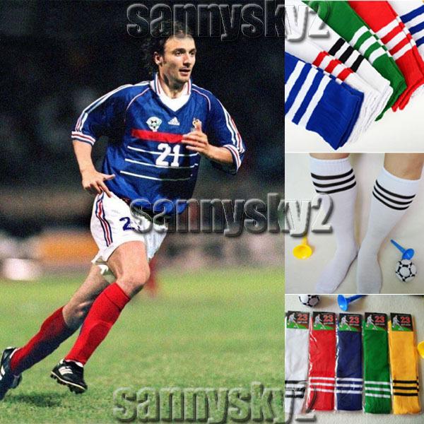 Men's Athletic Sports Long socks Football Soccer Basketball Sock Stocking thick cotton knee high sock Stripe 100% NEW 8 colors(China (Mainland))
