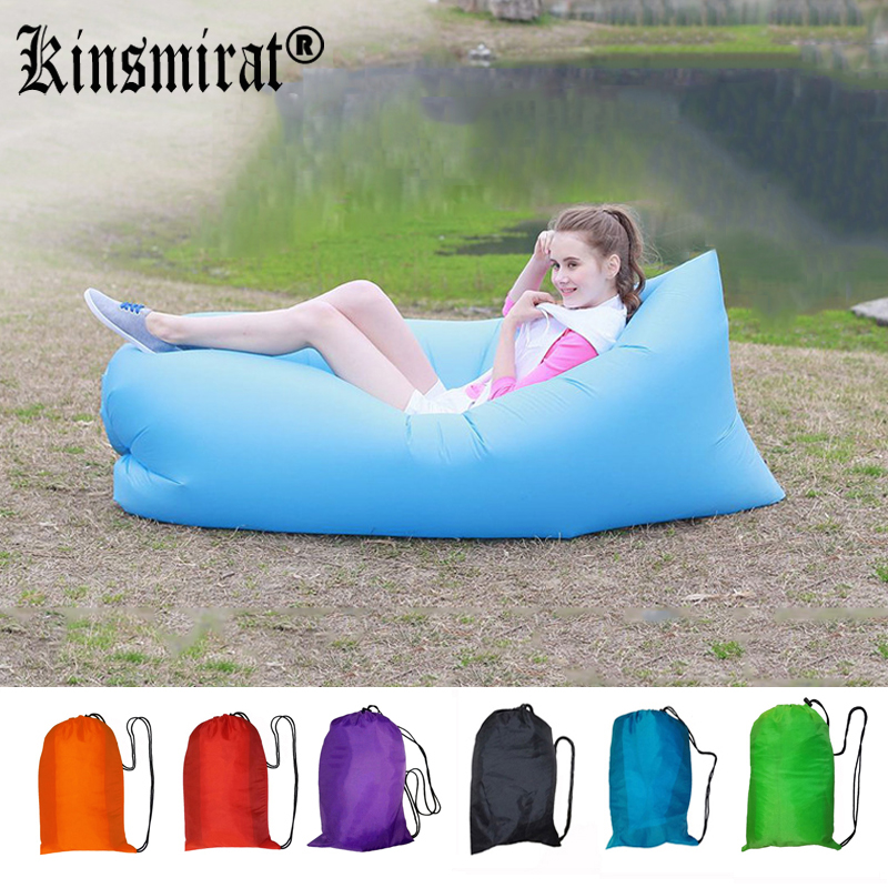 Fast Inflatable Air Sleeping Bag Sofa Air Bed Lazy Bag Laybag Chair Couch Lounger Saco de dormir(China (Mainland))