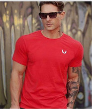 2016 Gymshark cotton camisetas Gym camisa masculina hombre t shirt Bodybuilding and fitness shirt men Muscle men's sportswear