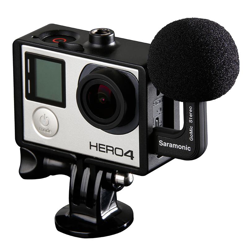 Saramonic GoMic Professional Mini Stereo Ball Microphone for Gopro Hero4 4+ 3+ 3 Cameras<br><br>Aliexpress
