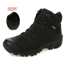 Men Military Sport Boots DYANMIC Men Winter Black Super Warm PU Leather Hiking Boots High Quality Handmade Outdoor Shoes(China (Mainland))