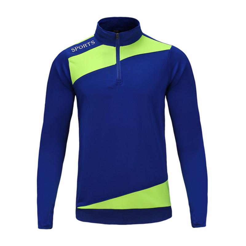 EU Sport Jerseys 2017 Long Sleeve Soccer Jacket Men Football Jersey Jogging Training Jersey Coat Soccer Uniforms maillot de foot(China (Mainland))