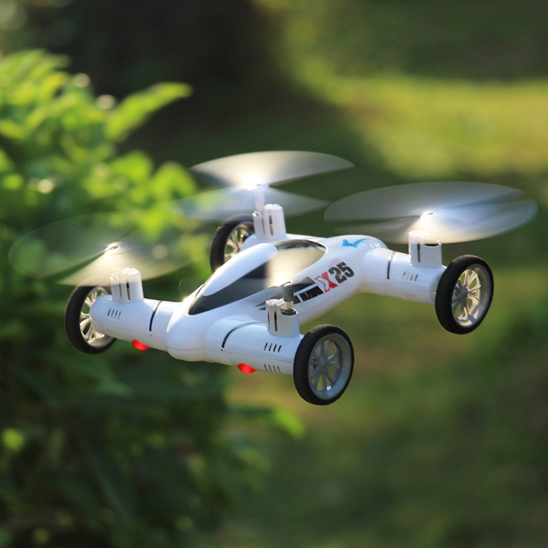RC Airplane SY X25 2MP 2.4G 8CH 6-Axis Speed Switch With 3D Flips RC Quadcopter Flying Car RTF(China (Mainland))