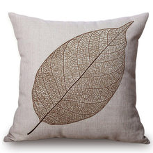 Brown Coffee Leaf Decorative Pillow Cover Cushion Cover Kids Bedding Sets Gift Nordic Concise Home Throw Pillows Case(China)