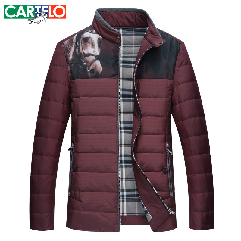 Фотография CARTELO/Brand Slim  90% Duck Middle-age Casual Down Jacket Multi Pocket Winter Male Jackets Warm Thick Coat For Men