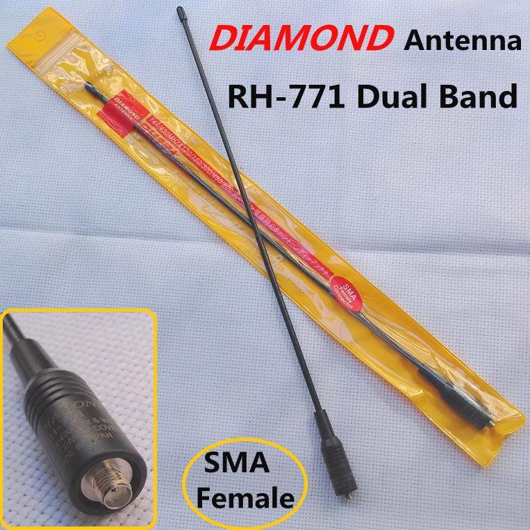 NEW Diamond Antenna RH-771 SMA-F Female Dual Band VHF+UHF Antenna For BAOFENG UV-5R UV-B5 TG-UV2 KG-UVD1P PX-888K TK-3107 Radio(China (Mainland))