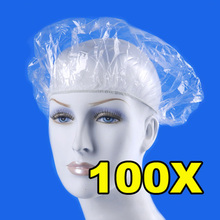 100pcs/pack Disposable Hat Hotel One-Off Elastic Shower Bathing Cap Clear Hair Salon Free Shipping(China (Mainland))