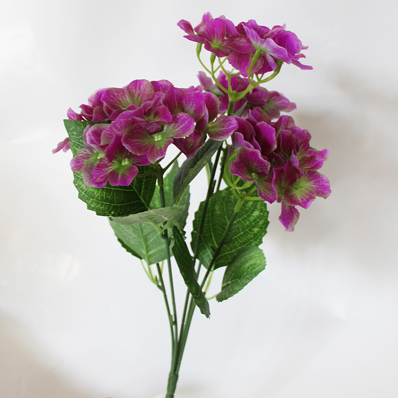 Artificial silk hydrangea flowers for decoration fake real Artificial flower decoration for home