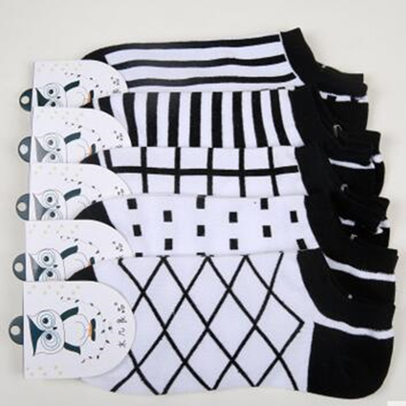 Men Casual Socks Fashion Simple Stripped Slipper Socks Creative font b Plaid b font Invisible Socks