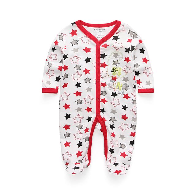Новый 100% младенца Хлопка девушки одежда 0-12 М V-образным Вырезом Пижамы С Длинным Рукавом Детские де bebe костюмы baby Rompers 2016