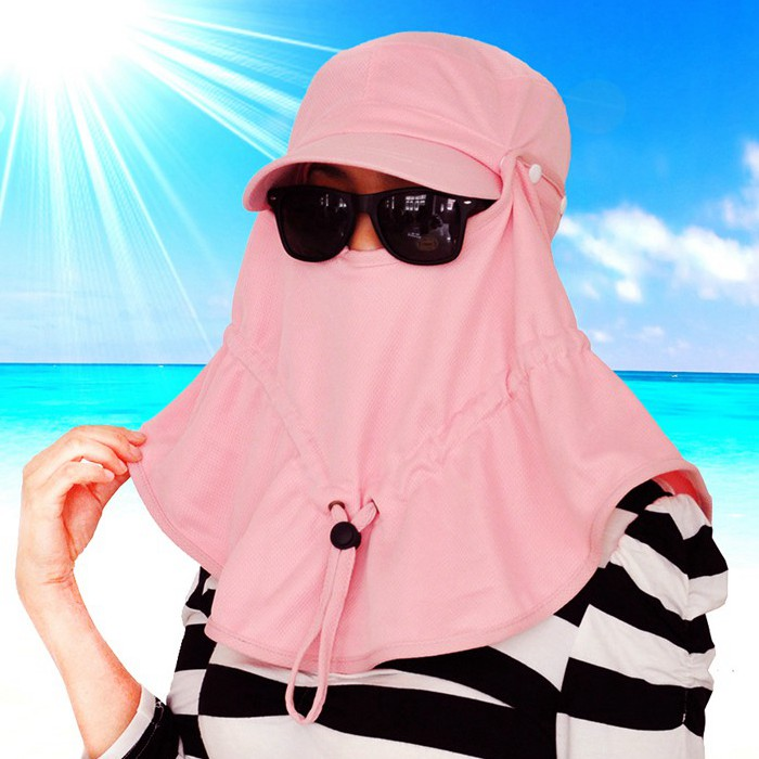 2015 new arrival face-covering Sun Hat woman man outdoor baseball cap face protection anti-UV ventilation cool material fr20(China (Mainland))