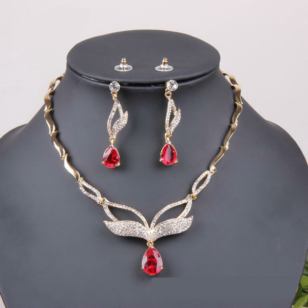 2014 New Style Necklace Sets Hot Selling Nice Zircon Rhinestone Jewelry Sets(Necklace + Earrings) - Super Trading store