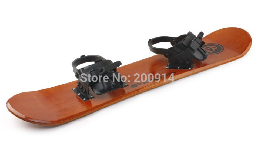 90cm child single snow sled sleigh sledge board skiing snowboard snow scooter Classical traditional Wooden craft(China (Mainland))