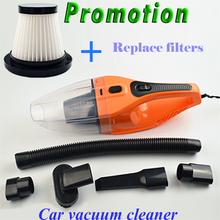 Promotion!!! 5M 120W 12V Car Vacuum Cleaner Handheld  Super Suction Wet And Dry Dual Use Vaccum Cleaner For Car(China (Mainland))