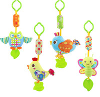 Animal Handbells Musical Developmental Toy Bed Bells Kids Baby Soft Rattle Toys Gift
