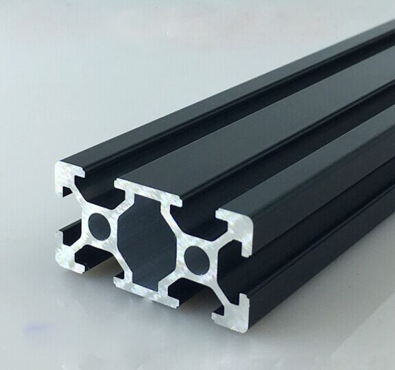 Black oxidation double-groove aluminum alloy profile 2040 extrusion profile working table and automation equipment profile(China (Mainland))