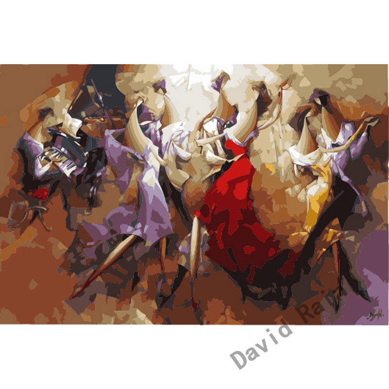 Hot sale wall painting drawing by numbers abstract digital number painting home decoration music party wedding(China (Mainland))