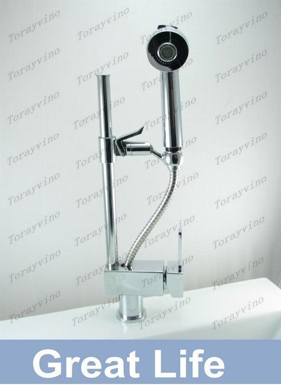 Z8529 Construction Real Estate kitchen pull out faucet mixer chrome finishing faucet