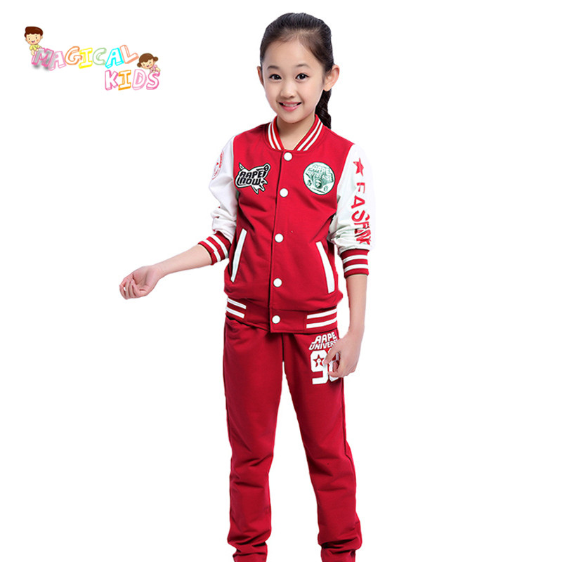 New Brand Children Clothing Set Kids Tracksuit Sports Suit Casual zipper Jacket And Pants ...
