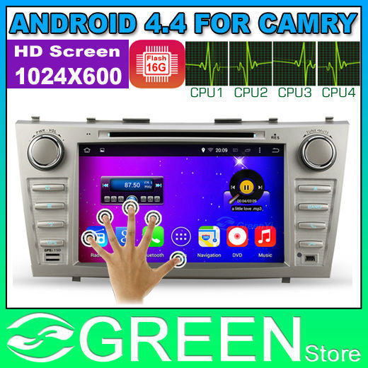 "Android 4.4 Quad Core Car DVD Player Vehicle GPS PC For Toyota Camry with 8"" Capacitive Screen Built-in WIFI DVR(China (Mainland))"