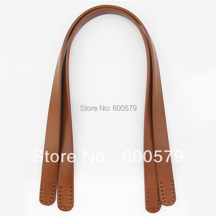 60cm glossy genuine leather bag handle(China (Mainland))