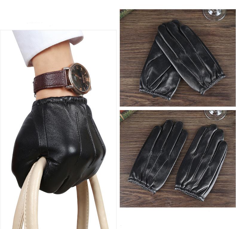 Sheep Skin Touch Screen Men Gloves Classic Genuine Leather men's driving Gloves Men's handschoenen Smart Phone Gloves Black M/L(China (Mainland))