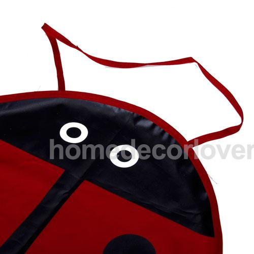 Red Ladybug Fabric Craft Apron for Kid Children Party(China (Mainland))
