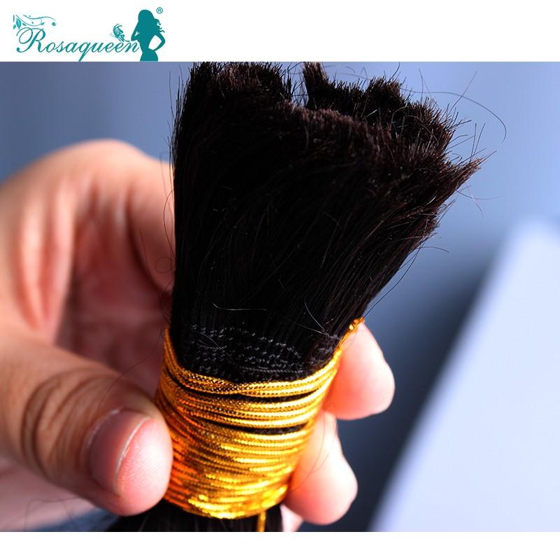 RosaQueen Hair Products Brazilian Virgin Hair Loose Wave Human Hair Bulk For Braiding 100g Human Braiding Hair Natural Wave
