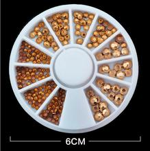 New Arrivel Mix color Metal style Mix size beads Wheel Nail Art Decoration Diy Design Wheel Nail Art Decorations nail(China (Mainland))