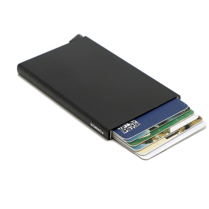 Fashion Brand travel id credit Card holder Rfid Card protector Automatic creditcardhouder Wallet(China (Mainland))
