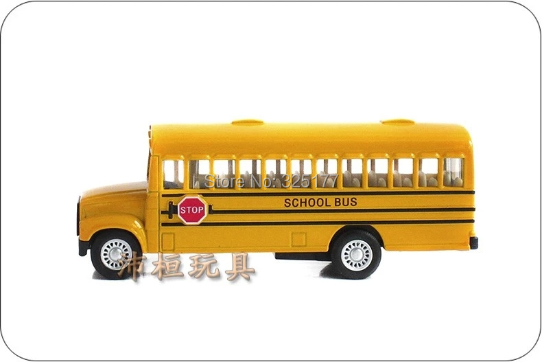 Kinsmart toys Brand New School Bus Diecast 1/24 large Alloy car model by Soft-World Classic Pull Back Open Door for boy kid(China (Mainland))