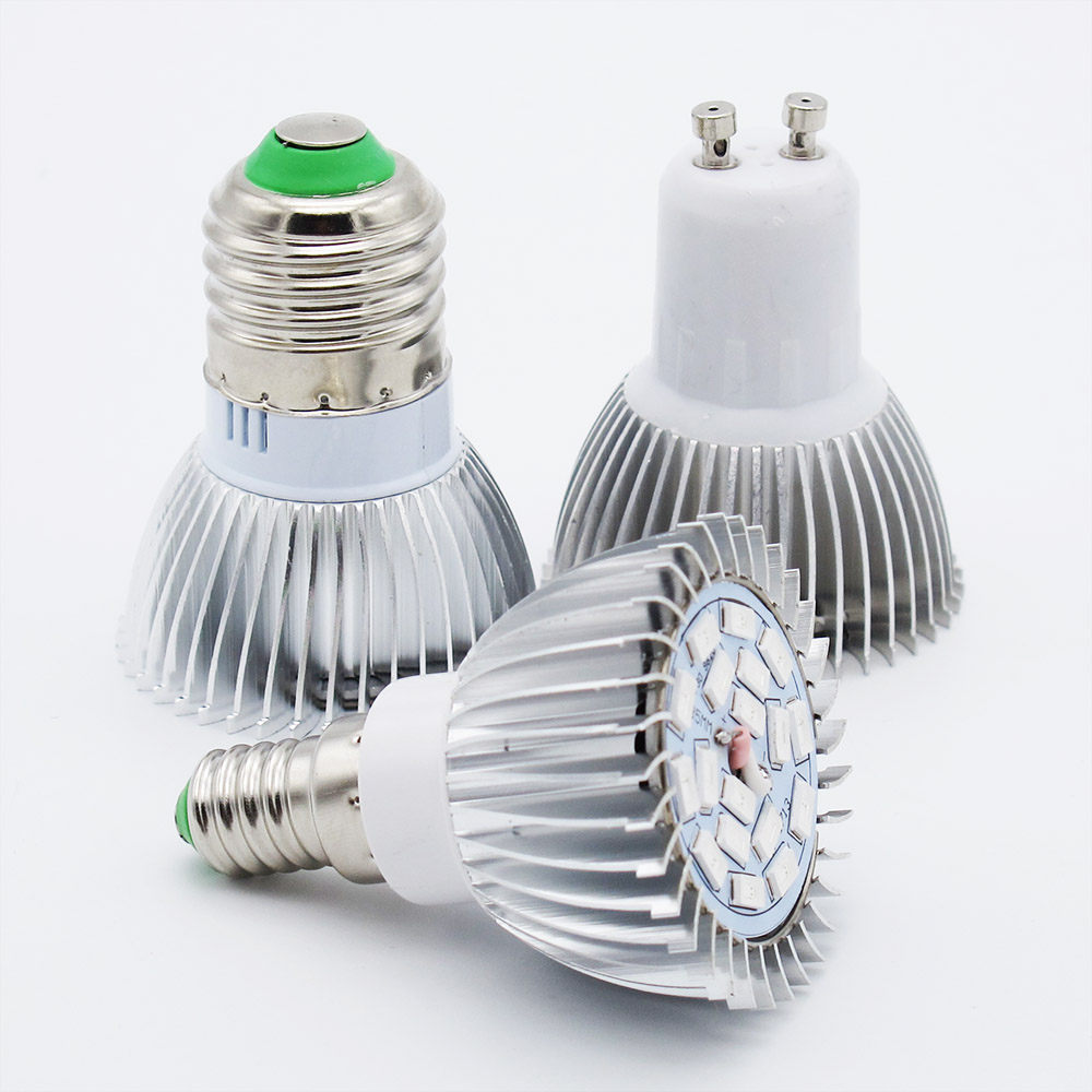 LED Grow E27 E14 GU10 Bulb Replace 18W CFL Full Spectrum For Hydroponics System Greenhouse Plant Growing Box 85-265V Light(China (Mainland))