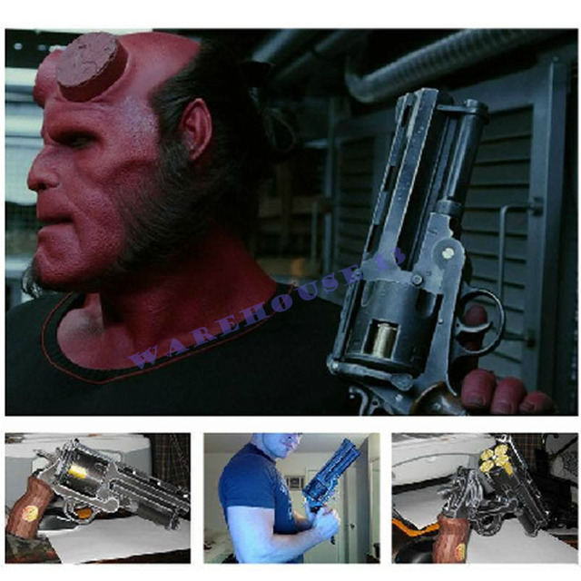 3D Paper Model Gun 1:1 scale Hellboy Revolver with 4 Bullets Firearm gun magazine adult 3d puzzles papercraft educational toy
