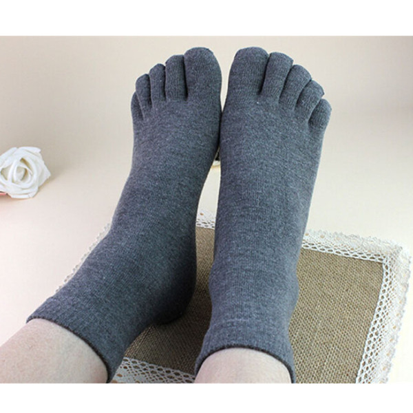 12 Pairs lot Men Healthy Care Mix Cotton Five Fingers Toe Socks Male Casual Breathable 5