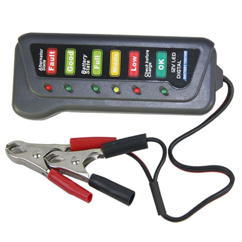 Electronic Tester Showing Failure Lights : V digital battery alternator tester with led lights