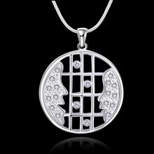 newest popular fashion necklace ,high quality beauutiful crystal jewlery , 925 sterling silver necklace , ashion vintage jewlery