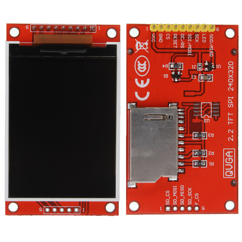 """Brand New Hot Sale 2.2"""" TFT LCD Display Module Board 240x320 For ILI9341 51 AVR STM32 ARM PIC Red New Electric Unit(China (Mainland))"""